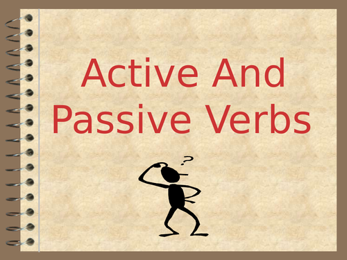 Active and Passive Verbs PowerPoint