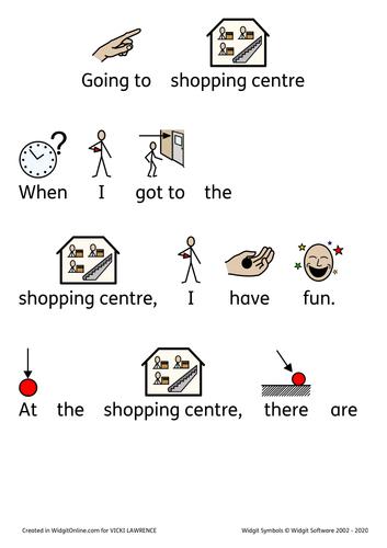 shopping centre social story