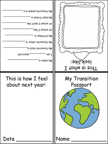 Transition Passport KS1 EYFS Reception