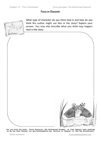 Comprehension/Inference - worksheet; predicting how the author may use a character within a story