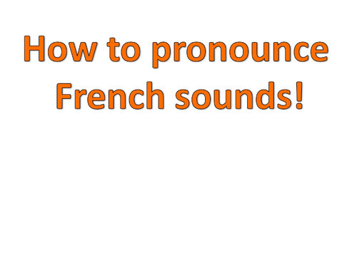 Sound spelling links in French - some key phonics