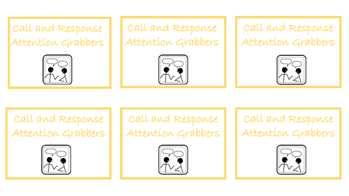 Call and Response Attention Grabbers