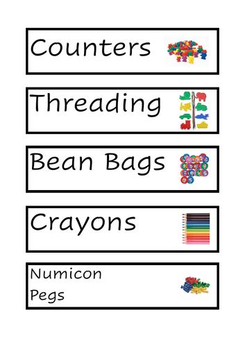 Tray Labels - Visual