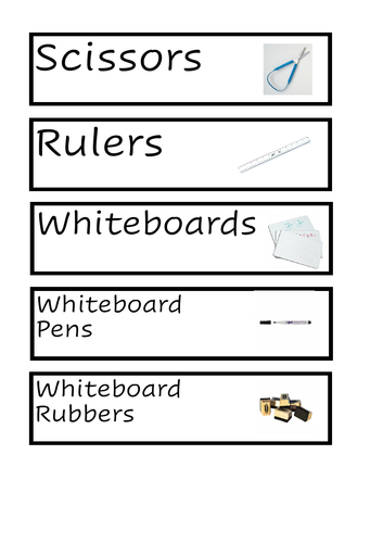 FREE SAMPLE - Tray labels - Visual