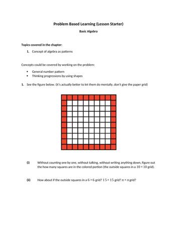 Basic Algebra (Year 7-8)