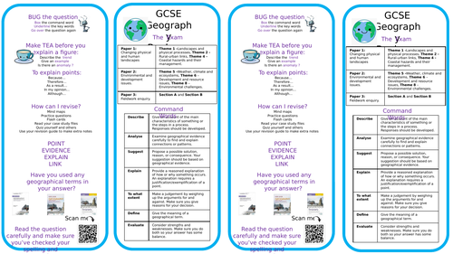 Revision Bookmarks for WJEC GCSE and A-level