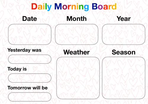 PDF for daily morning board