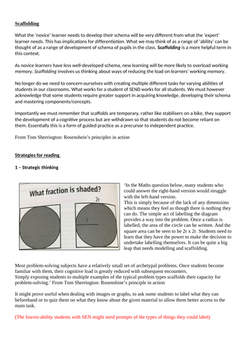 Scaffolding CPD & strategies - principles of instruction