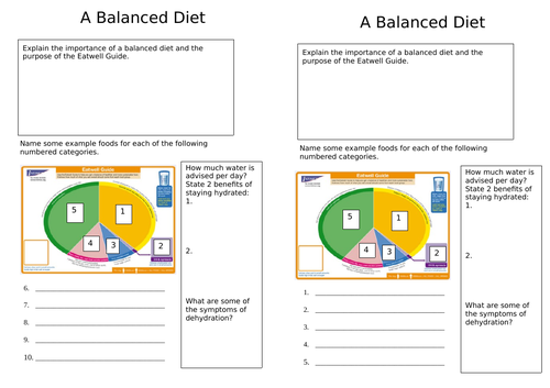 Balance Diet - Food Starter/Extension