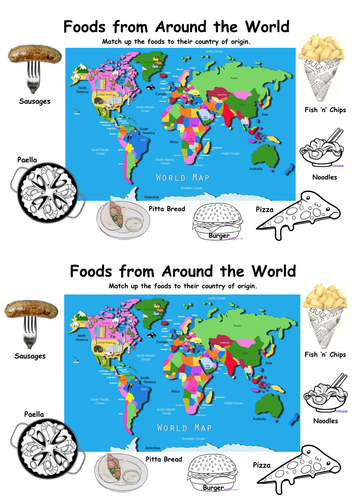 Food from around the WORLD - Food Starter/Extension