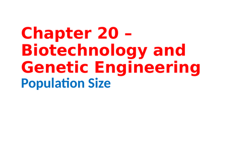 IGCSE Biology Chapter 20 – Biotechnology and Genetic Engineering