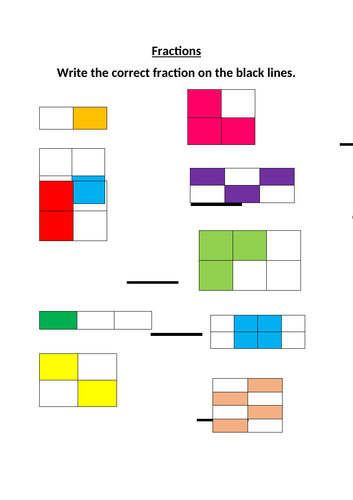 Fractions (Year 2) Differentiated