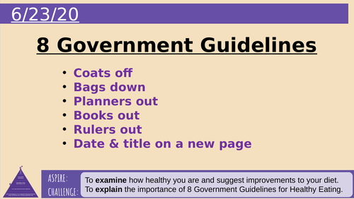 8 Government Recommendations Healthy Eating
