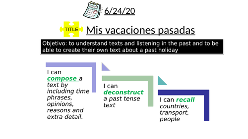 vacaciones pasadas- past holidays Mira2 KS3