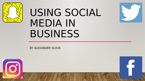 Social Media Assignment 1: Using social media in business (Learning Aim A)