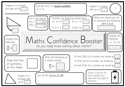 Maths GCSE Confidence Booster