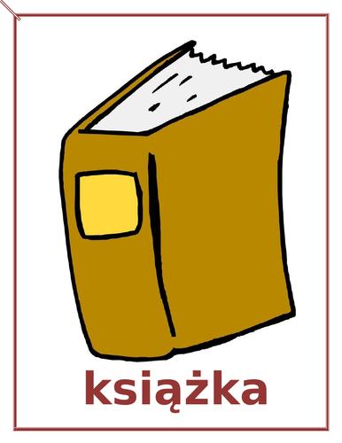 Przybory szkolne (School Supplies in Polish) Posters