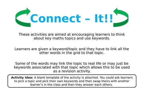 Connect it! KS3 Maths Keywords Activity