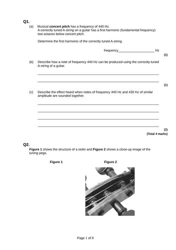 Stationary wave on a string (harmonics) - A Level Physics (Key stage 5)