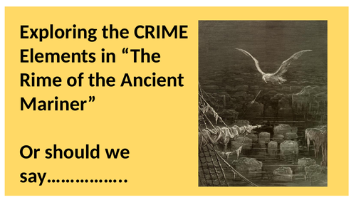 Resources to Support the Rime of the Ancient Mariner