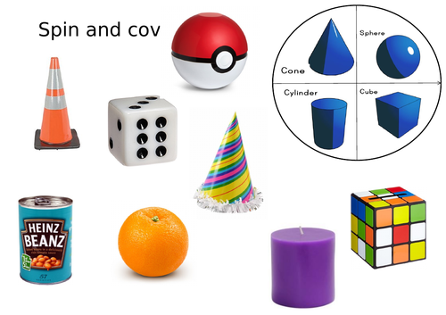 3D shape spin and cover activity