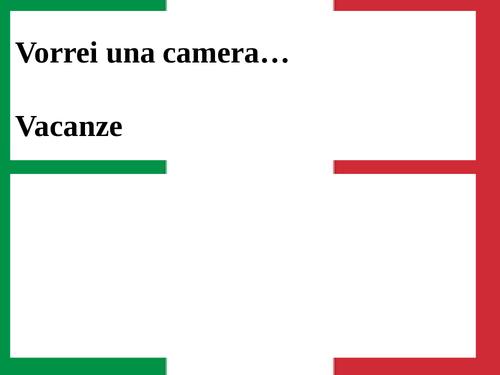 Italian GCSE Hotels/holidays