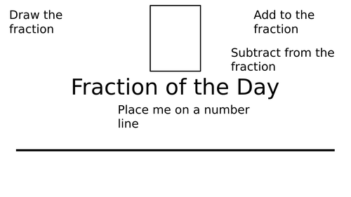 Fraction of the Day worksheet