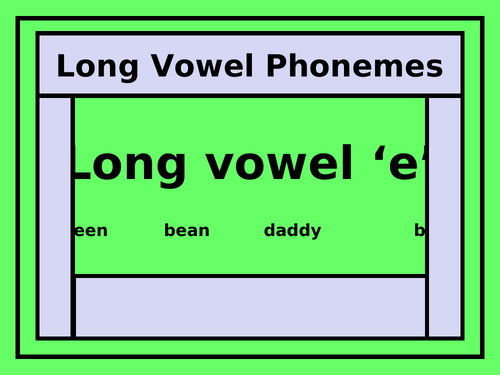 The Long Vowel 'e' PowerPoint