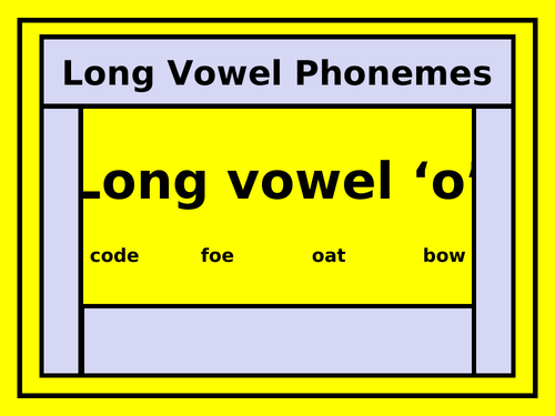 The Long Vowel 'o' PowerPoint