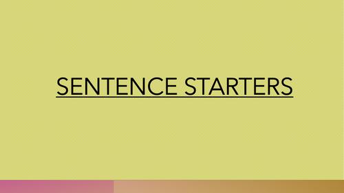 Sentence starters display ks1