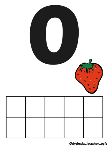 Strawberry Number Cards
