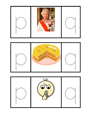 p and q picture recognition activity