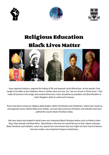 Religious Education and Black Lives Matter