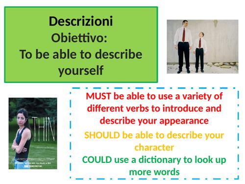 ITALIAN GCSE - descrizioni