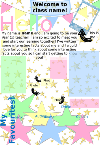 Meet the Teacher Letter (editable)