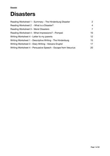 The Hindenburg - Sample sheet from Disaster Scheme of Work.