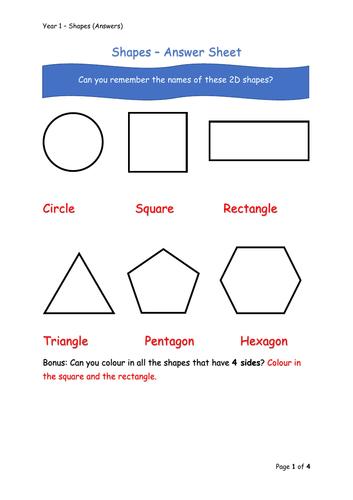 Y1 Maths - Shapes