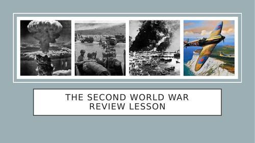 Second World War Review Lesson