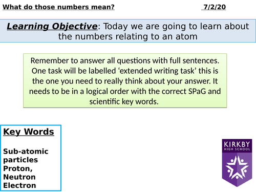 P4 Atomic numbers and isotopes
