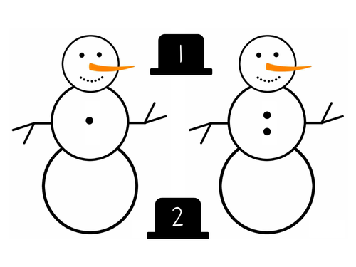 Snowman Number Match to 10