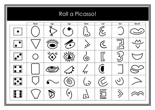 Roll A Picasso Sheet