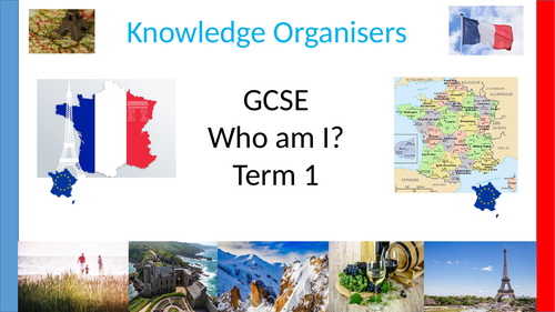 GCSE French Knowledge Organisers