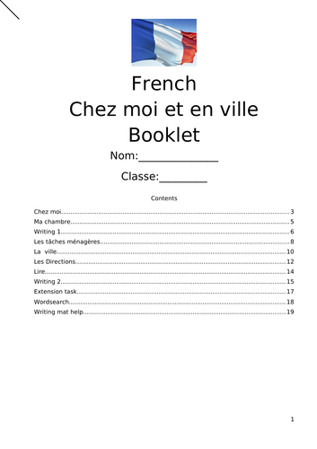 French GCSE revision - Town and Home