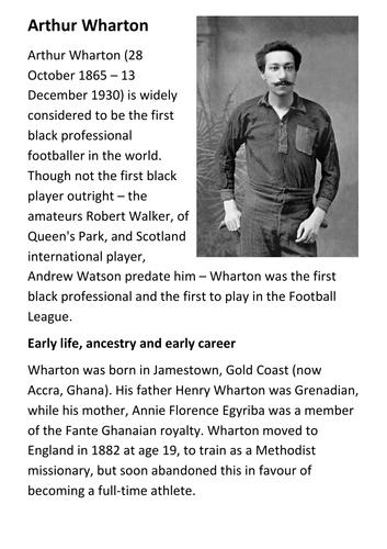 Arthur Wharton Handout