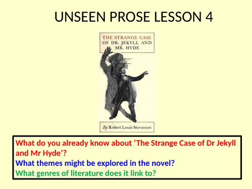 Unseen Prose - 4 introductory lessons