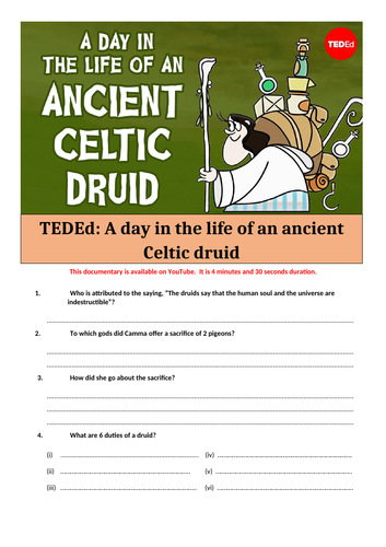 day in the life of an ancient Celtic druid