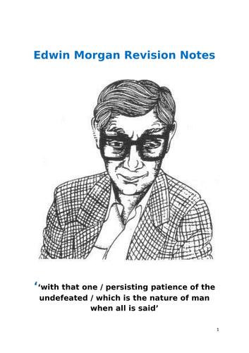 Edwin Morgan Scottish Text Question Revision Notes