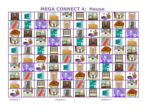 House Mega Connect 4 Game