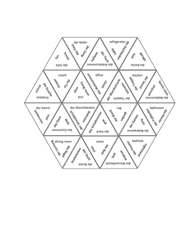 Haus (House in German) Tarsia Puzzle