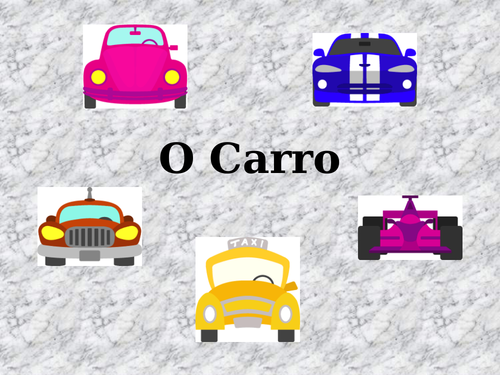 Car Parts in Portuguese PowerPoint